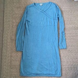 Women's Pure Jill Long Sleeve Blue Dress size XS